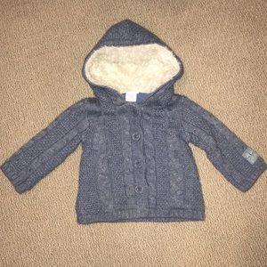 12-18 Month Girls Naartjie Blue Button Up Sweater